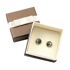 Kerry Blue Terrier. Earrings with box. Photojewelry. Handmade. Ca
