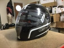 G-mac Pilot Black & White Full Face Helmet Size S NEW