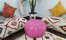 ON SOLD**20% OFF  Moroccan leather pouf handmade moroccan pouf Ottoman Footstol,