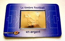 Neuf:  Timbre  FOOTBALL  argent