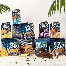 20 pc FAT SNAX KETO Cookies CHOCOLATE CHIP Lemon DOUBLE CHOC Peanut Butter 4/22