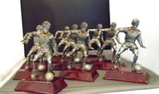 SOCCER TROPHIES 8 SILVER AND GOLD RESIN