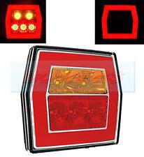 12V/24V GLOW RING LED REAR SQUARE TAIL LAMP LIGHT TRUCK VAN CAR TRAILER BOARD