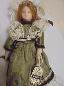 Antique/vintage doll 9 inch/Wupper(Germany). with stand