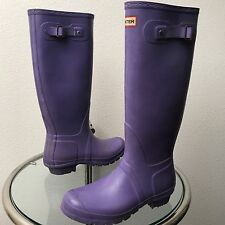Hunter Original Tall Rain Boots Purple Size EUR 40/41 Men 8 Women 9 (W23499)