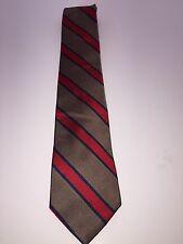 Liberty of London Gold/Red/Blue Single Stripe Regimental Silk Tie