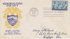 WORLD WAR II WWII PATRIOTIC COVER - 1945 NU-ART WCW MEMORIALIZING OUR NAVY FDC