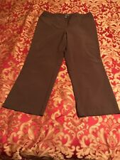 """additions by chicos 2, Brown Long Pants, Polyester Blend, Inseam 27""""."""