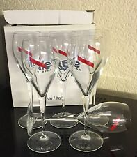 "MUMM CHAMPAGNE ITALESSE CRYSTAL  FLUTES 8"" TALL BOXED SET OF 6 UNUSED BNIB"