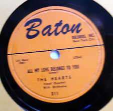 HEARTS 78 All my love belongs to you / Talk about him glrlie BATON Doowop vs29