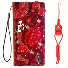 For Samsung Galaxy S21 Ultra Case,3D luxury Leather wallet flip phone cover