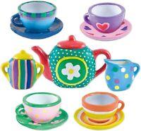 Childrens Paint Your Own Mini Tea Set Decorating Porcelain Cups Age 3+ Free Post