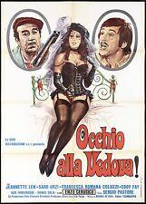 OCCHIO ALLA VEDOVA MANIFESTO CINEMA SEXY ASS GARTER GUN ITA 1976 MOVIE POSTER 2F
