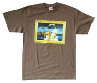 Joni Mitchell Tongue Both Sides Now Tour Brown T Shirt New Official NOS