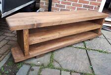 Corner Rustic Pine TV Unit solid wood stand/cabinet -medium oak wax