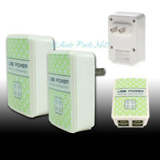 2X USB 4 PORT WALL ADAPTER POWER CHARGER FOR IPHONE 5 5S 5C IPAD MINI IPOD TOUCH