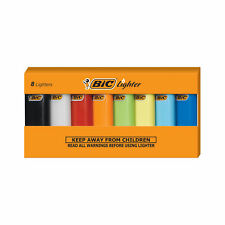 BIC Mini Lighter, Assorted Colors, Set of 8 Lighters