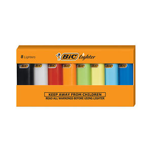 BIC Mini Lighter, Assorted Colors, Set of 8 Lighters