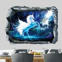 Wonderland Unicorn Room Home Decor Removable Wall Stickers Decals Decoration