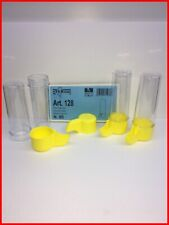 New listing Yellow Long Luxury drinker Tube 3.7oz Canary Finch Cage Bird 2Gr Italy Lot of 4