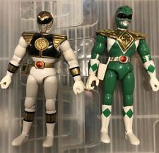 Lot Of 2 Vintage 1993 Bandai Power Rangers Green And White