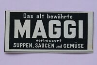 Werbung Anzeige um 1900 MAGGI verbessert Suppen Saucen Gemüse Holzschnitt