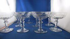 10 anciennes coupes champagne vin verre taillé epoque 1900