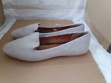 H&M Faux Suede Loafers Light Mole - Size UK 6/EU 39