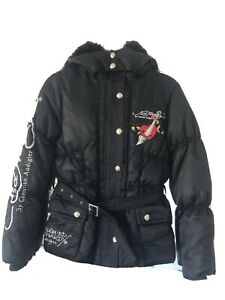 Ed Hardy Goose Down Parka Jacket New WO Tags Size S 🔥