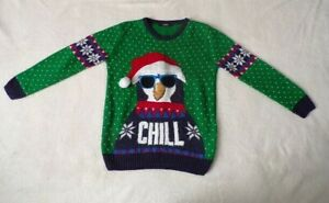 Boy's Penguin Christmas Jumper Age 8-9 Years