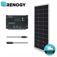 Renogy 100W 12V Solar Panel Bundle Kit w/ 10A Controller Battery Charging System
