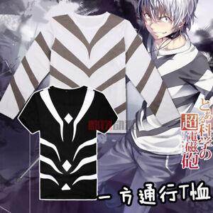 Anime Toaru Kagaku no Railgun Accelerator T-shirt Two choices Cosplay Costume