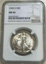 1945 S Walking Liberty Half Dollar - NGC MS66