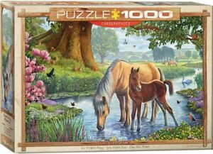 Eurographics Puzzles 1000 Piece Jigsaw Puzzle - The Fell Ponies EG60000976