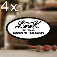 4x pieces LOOk but please dont touch sticker decal hot rod 2.75""