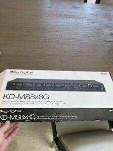 Key Digital KD-MS8x8G 8x8 4K/18G HDMI Matrix Switcher with Audio Switching