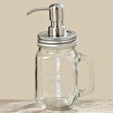 SEIFENSPENDER aus Glas 19cm Vintage Ball Jar PUMPSPENDER