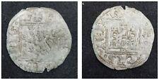 medieval treasure Henry II (1369-1379) of Castile spanish coin 18mm Noven (lot d