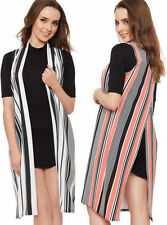 Striped Polyester Vests for Women