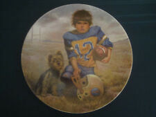 FOOTBALL QUARTERBACK collector plate GREGORY PERILLO Dog Boy Children