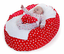 BABY BEAN BAG CHAIR !!! NEW UNIQUE DESIGN !!! - ** RED/WHITE HEART**