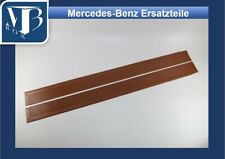 Mercedes-Benz R107 560SL Pair Rubber Door Sill Mats - Brazil Brown NEW