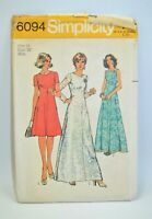 1973 Simplicity Sewing Pattern # 6094 Ladies Size 14 Dress Bust 36 Uncut