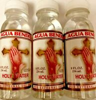 Three Pack 3 HOLY WATER By De Crusellas SPIRITUAL RELIGION Blessed Self Help