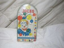 VINTAGE JOCKO THE CLOWN PINBALL MARBLE TOY GAME 1960s BY WOLVERINE NO144