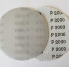 """5"""" Sanding Disc 10 Pack 2000 Grit Waterproof Hook and Loop Film"""