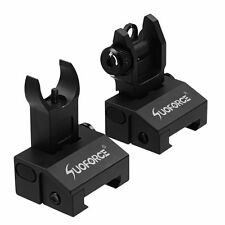 Low Profile Front and Rear Flip up Rapid Transtion A2 Picatinny Iron Sight New