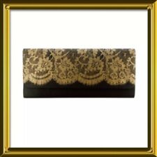 Ladies Clutch Bag with Gold Lace Print