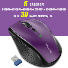 Wireless Mouse 4800DPI Adjustable 2.4G USB Cordless Optical Scroll Mice for PC