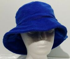 Bucket Hat S/M Blue Terry Cotton Fishing Outdoors